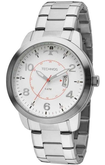 Relógio Technos Performance Racer 2115ktm/1b Prateado/branco