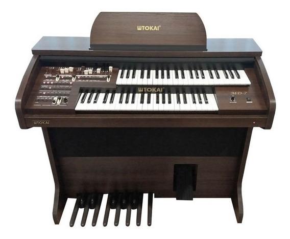 Órgão Tokai Md7 Marrom Wengue Drawbars + Brinde Tokai