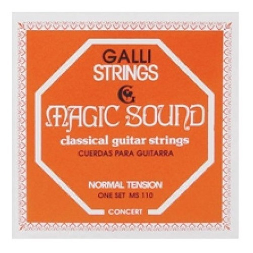 Cuerdas Guitarra Clasica Magic Gallistrings Tension Normal