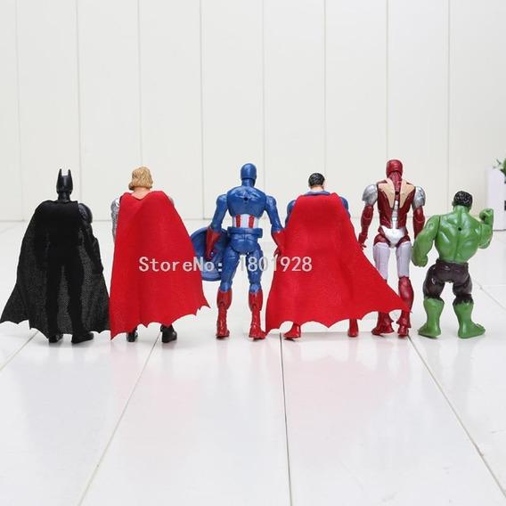 Bonecos Vingadores 6 Peças, Herois Marvel, Figuras Em Ação
