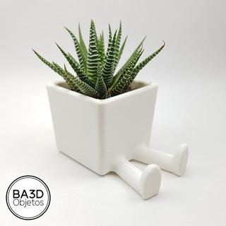 Maceta Con Piernas Ideal Suculenta Cactus Diseño Impreso 3d