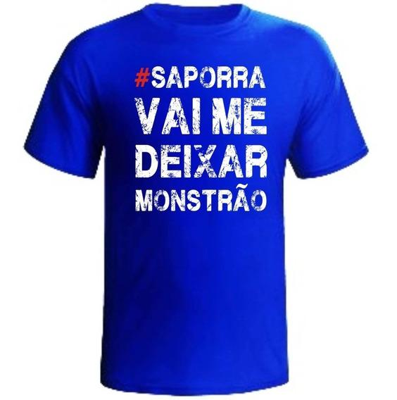 Camiseta Sap#rra Vai Me Deixar Monstrão Academia Masculina
