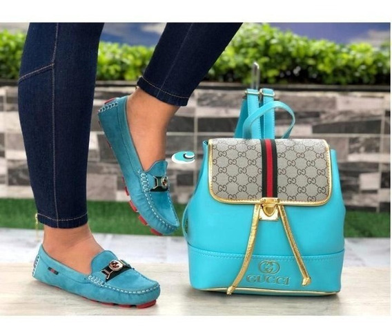 Zapato Casual De Dama (combo Zapatos + Bolso) Colombiano