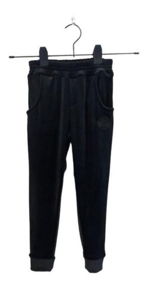 Pantalón De Plush Nena Y Nene Con Puño Babucha Con Bolsillos