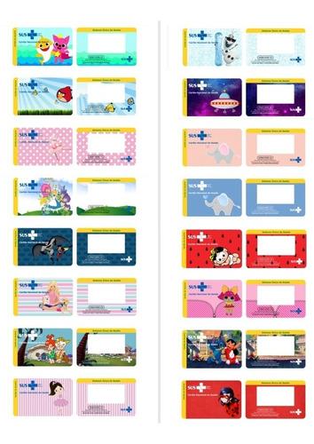 Imagem 1 de 2 de Cartão Sus Personalizado 2 Por 8$