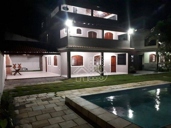 Casa Residencial À Venda, Cordeirinho (ponta Negra), Maricá. - Ca0572