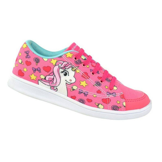 Tênis Infantil Bee Happy Unicórnio - Pink / Verde Acqua