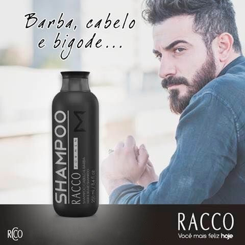 Shampoo Masculino Para Cabelo E Barba - Racco Cosméticos