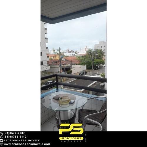 Imagem 1 de 12 de Apartamento Mobiliado Com 3 Dormitórios Para Alugar, 135 M² Por R$ 3.200/mês - Jardim Mangueira - João Pessoa/pb - Ap5127
