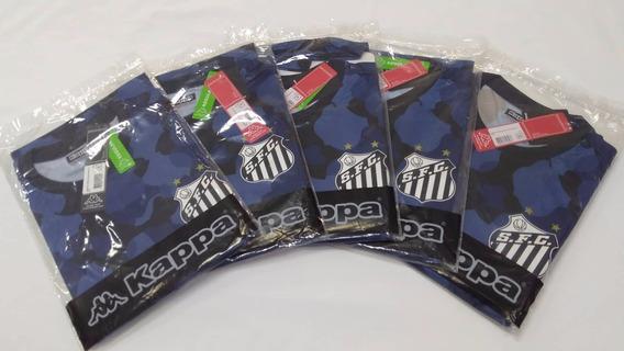 Camisa Santos Kappa Pré Match Oficial Aquecimento 2016 Azul