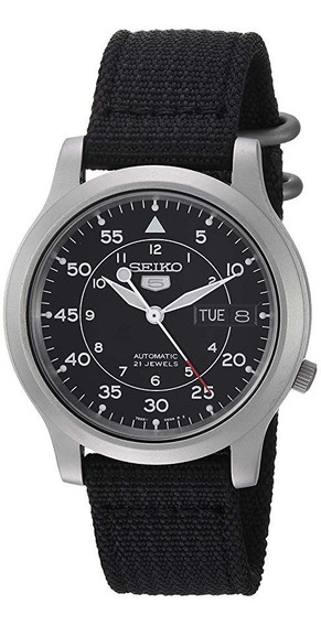 Reloj Para Hombre Acero Inoxidable Correa Negra Seiko