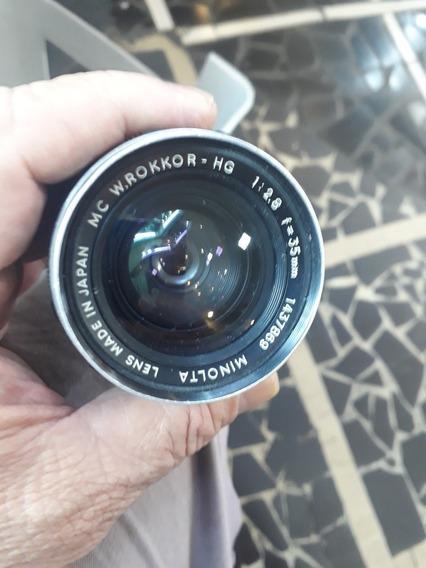 Lente Minolta 35mm Rokkor 1:2.8