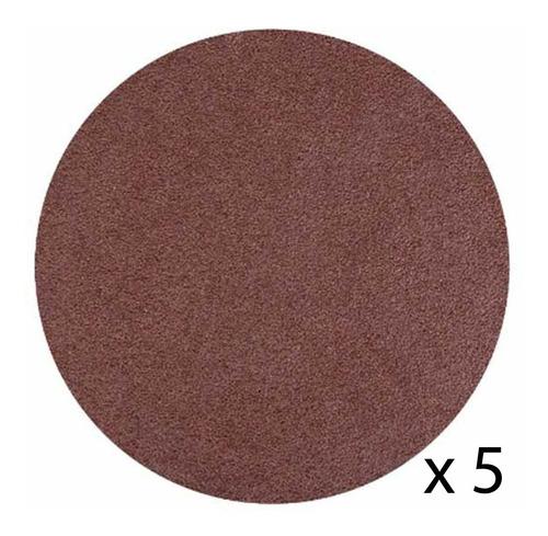 5 Disco 4 1/2 Lija Con Velcro Grano 80 - Electroimporta