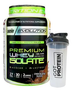 Iso Whey 2 Lb. Star Nutrition Aislado De Proteina + Shaker
