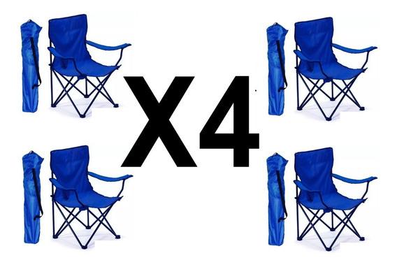 4 Sillas Plegables De Campismo Playa Outdoors