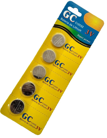 Bateria Moeda Lithium Cr2032 3v Cartela C/5 Unid Fretegratis