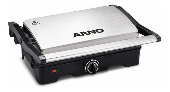 Grill Arno Dual Inox Com Abertura 180 ° Gnox