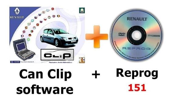 Renault Can Clip V183 - Multilinguagem + Renault Reprog V169