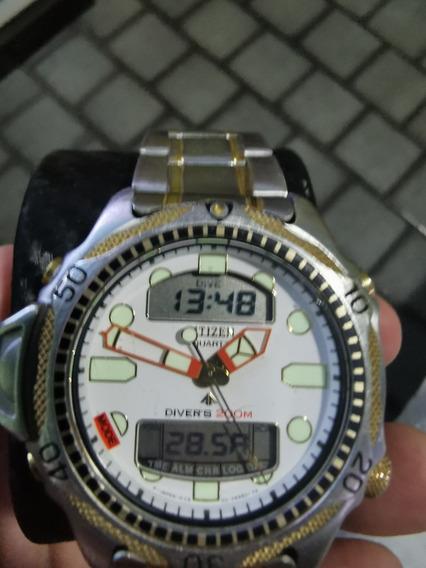 Relógio Citizen Aqualand C500 Lindo Pulseira Aço!!!