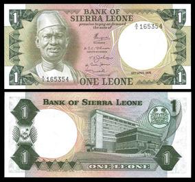 Serra Leoa 1 Leone 1974 P. 5a Fe Cédula - Tchequito