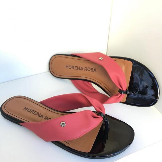 Chinelo Feminino Morena Rosa Shoes Em Couro Verão 2019