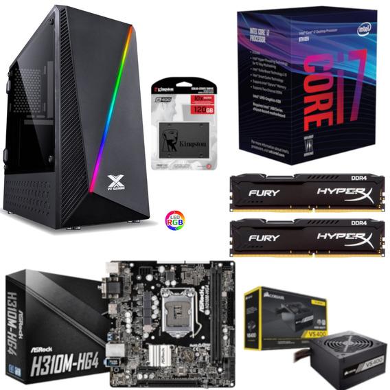 Pc Pyxis Intel I7 8700 H310m Hg4 Hx 16gb Vs400 Ssd 120gb