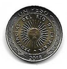 Moneda Argentina $ 1 (2016) Sin Circular (4 X $ 30) Palermo