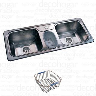 Bacha Cocina Johnson Pileta Hydra J 107 A + 1 Acc Cjn0168