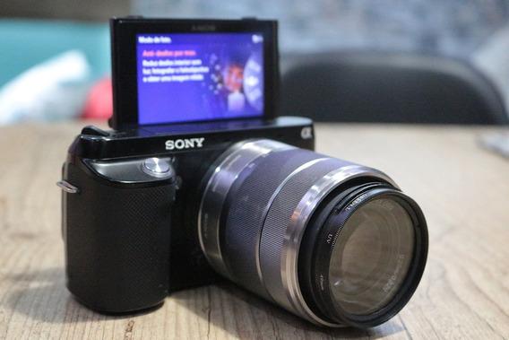 Sony Mirroless Nex F3 Com Brinde Cartão Micro 16 Sd