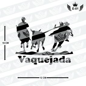 Adesivo Vaquejada Derrubando Boi, Carro, Moto Etc.