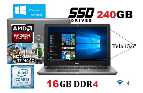 Notebook Dell Gamer I5 7ª Ger Ddr4/16gb/ssd240 /vga 2gb/15.6