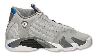 Jordan Nike Kids Air 14 Retro Bg Lobo Gris / Azul Sprt / Cl