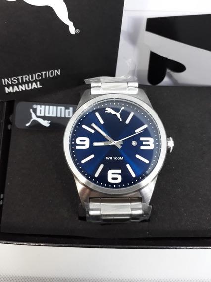 Puma Cat Instinct Blue Reloj Para Caballeros
