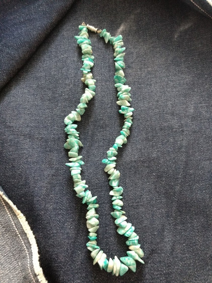Colar De Pedras Brasileiras Cor Verde, Antigo