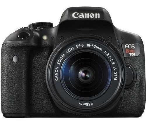 Câmera Canon T6i Kit 18-55 Is Stm Na Caixa Pronta Entrega! #