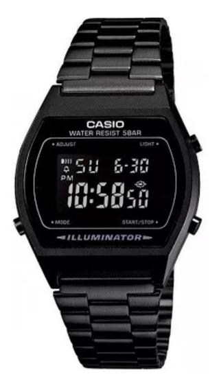 Reloj Casio Negro Mate B640w Retro Vintage Clasico