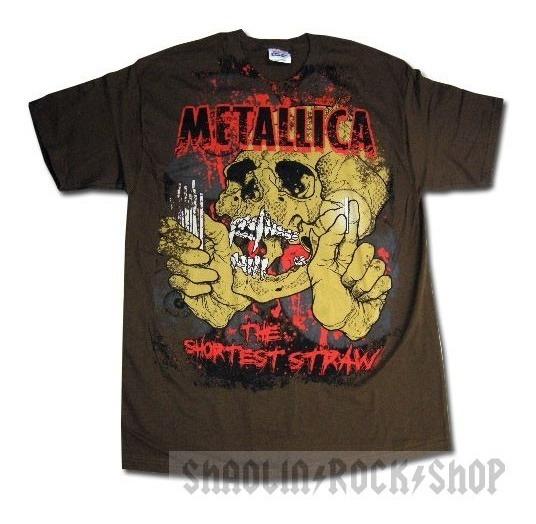 Metallica Playera Shortest Straw Srsx Rock Metal