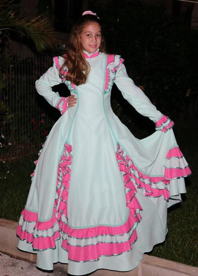 Vestido De Prenda Gaucha Mod. Kelly Tam 8-10-12