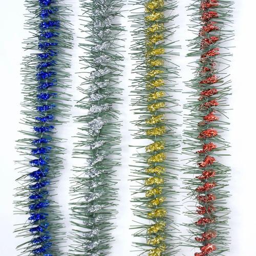 Guirnalda Navidad Lameta Verde Rulo Color 5 Cm X 2 M #1642
