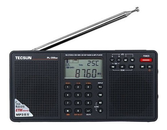 Rádio Receptor Tecsun Pl-398mp Fm Stéreo/am/sw Mp3 Player
