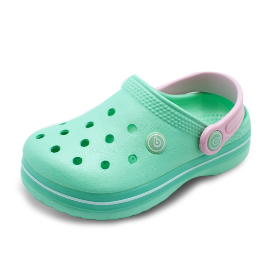 Zuecos Bamers Airline Menta/pink
