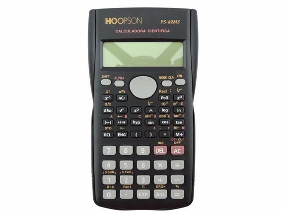 Kit 2 Calculadora Científica 240 Funções Ps-82ms P/ Trabalho
