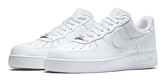 Tenis Air Force 1 Branco Low Casual Em Couro
