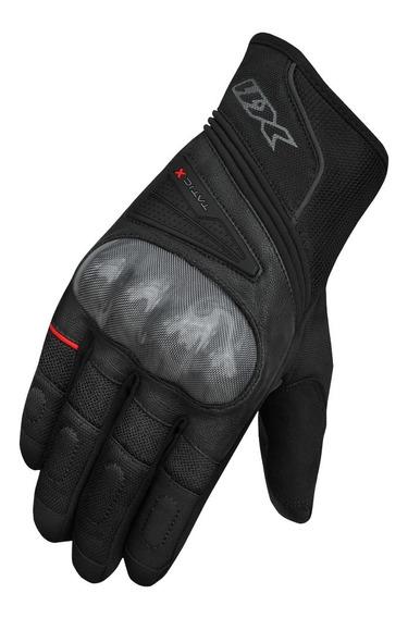 Luva Motociclista X11 Tatic X Com Proteções Preta Lançamento