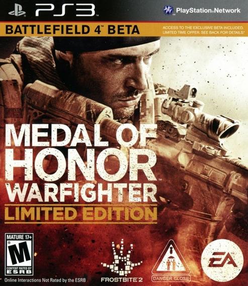 Game Play3 - Medal Honor Warfighter - Semi-novo Jogo Ps3