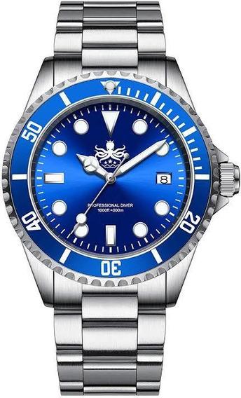 Phoibos Px002b Diver Mergulho Profissional 300m Maq. Suíço