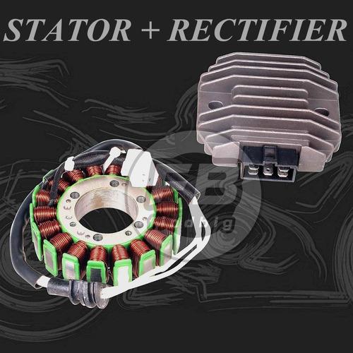 Imagen 1 de 6 de Nuevo Kit De Estator + Rectificador Del Regulador De Voltaje
