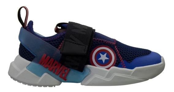 Tênis Infantil Grendene Marvel Capitão América Menino 22193