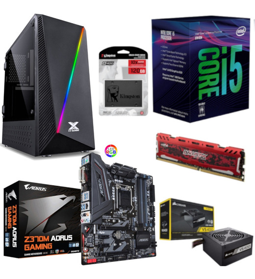 Pc Pyxis Intel I5 8400 Aorus Z370m G Bl 8gb Vs400 Ssd 120gb