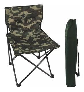 Cadeira Dobrável Articulada Portátil Pesca Camping Camuflada